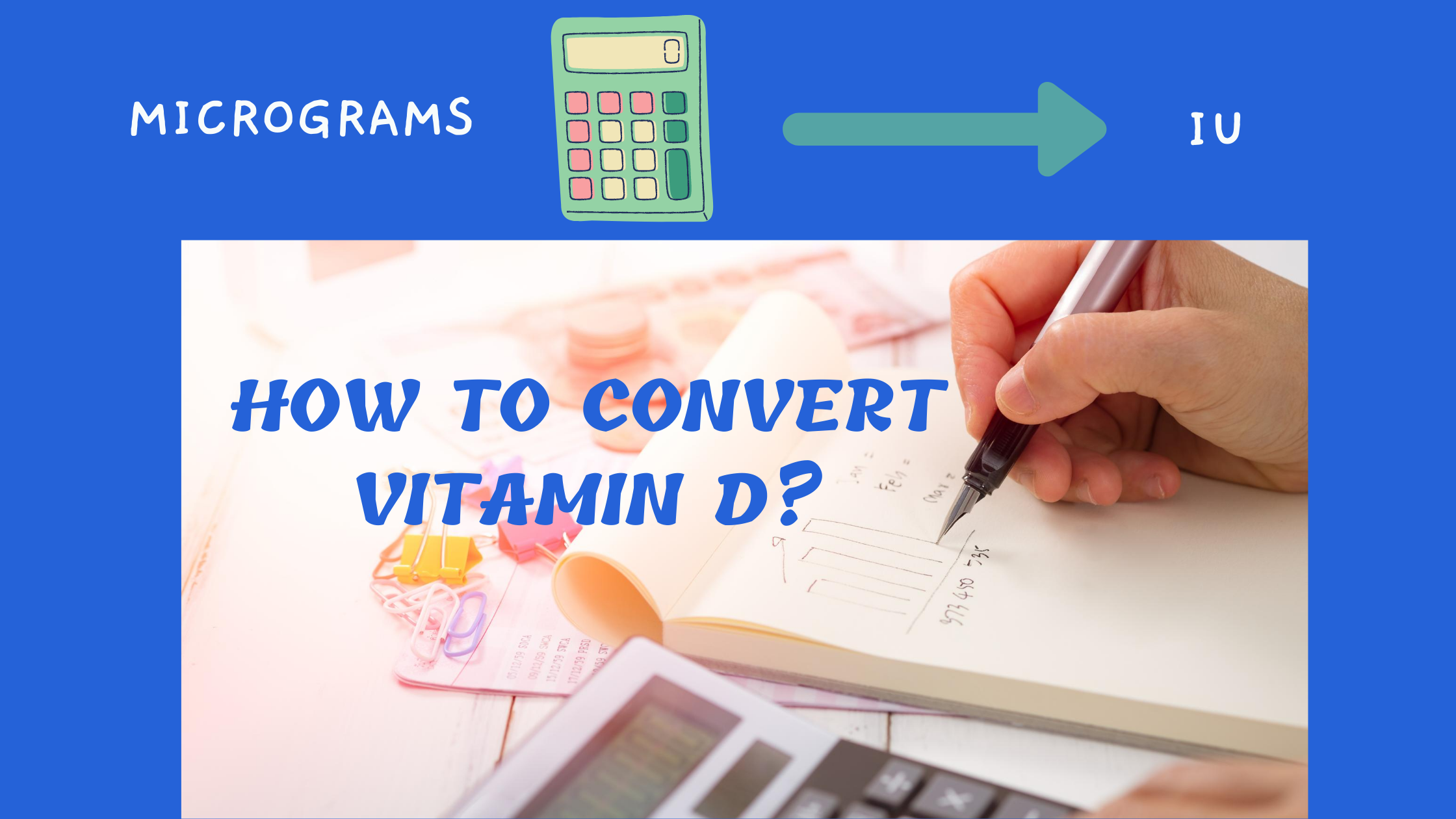 vitamin D microgram to iu