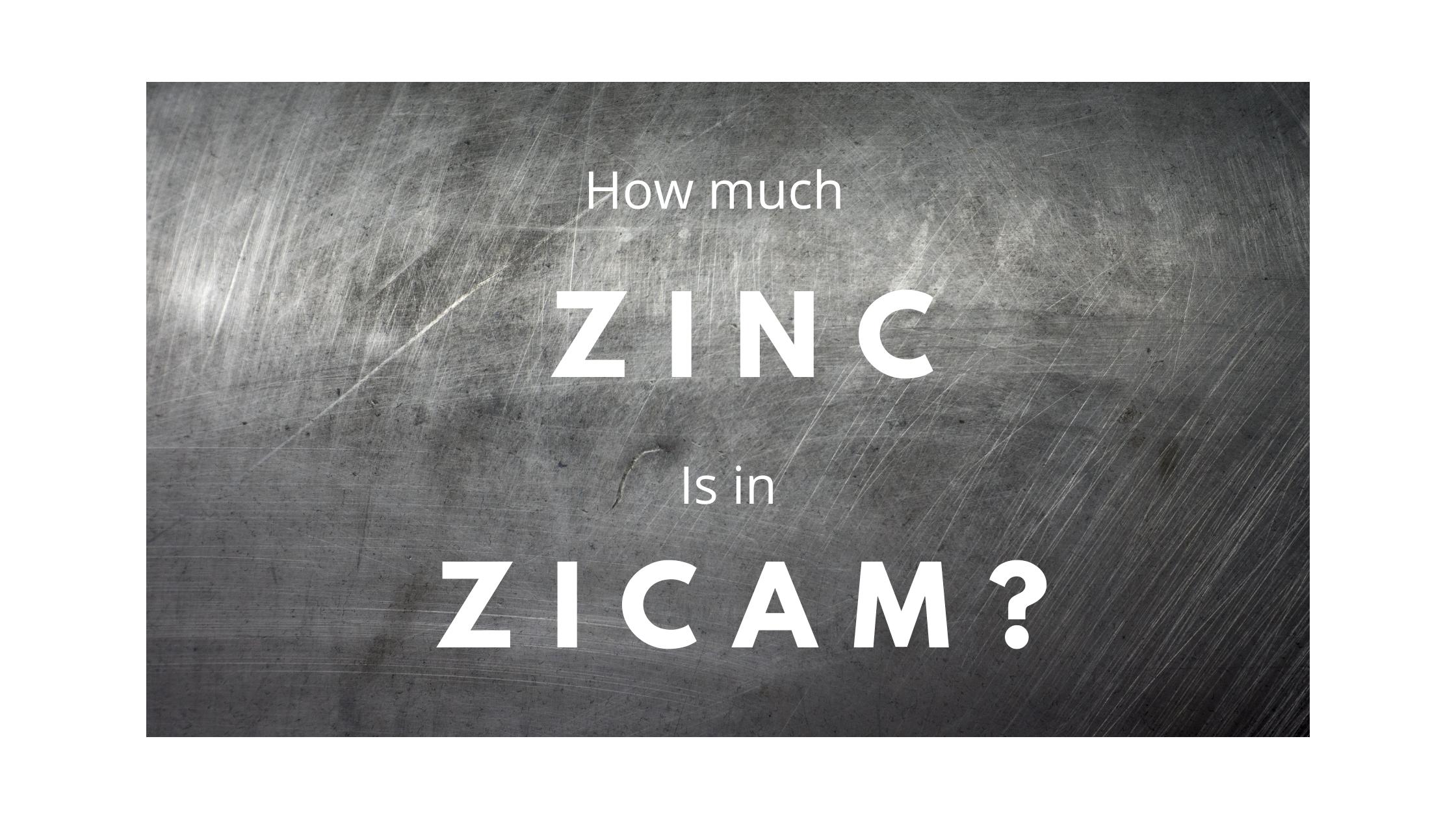 How much zinc is in zicam